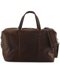 e8ba48f0dcf5 Lyst - Frye Oliver Overnight (dark Brown Smooth Pull Up) Bags in ...