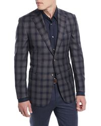 Brioni - Two-tone Plaid Two-button Sport Jacket - Lyst