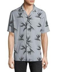 Hudson Jeans - Men's Camp-collar Printed Short-sleeve Sport Shirt - Lyst
