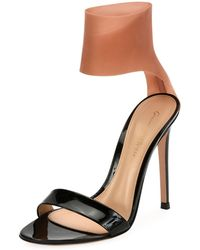 Gianvito Rossi - Patent And Latex Two-tone Sandal - Lyst