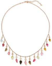 Jacquie Aiche - 14k Rose Gold Multicolor Tourmaline & Diamond Shaker Necklace - Lyst