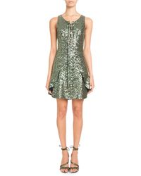Pascal Millet - Sleeveless Lace-up Sequin Mini Cocktail Dress - Lyst