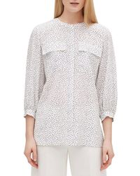 Lafayette 148 New York - Liberty Confetti-print Button-front Silk Blouse - Lyst