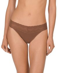 Natori - Bliss Perfection Lace-waist Thong 750092 - Lyst