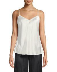 Neiman Marcus - V-neck Silk Camisole - Lyst