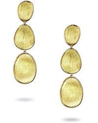 Marco Bicego Lunaria 18k Triple-drop Earrings - Metallic