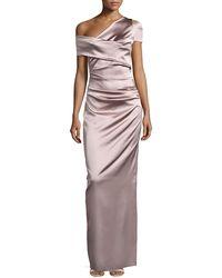 Talbot Runhof - Moa Asymmetric One-shoulder Evening Gown - Lyst