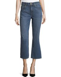 Co. - Mid-rise Cropped Boot-cut Jeans - Lyst