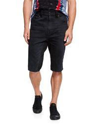 True Religion Men's Marco Whiskered Knee-length Shorts - Black