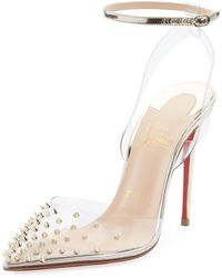 Christian Louboutin - Spikoo Spiked Ankle-wrap Red Sole Pump - Lyst