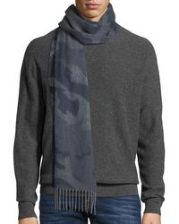 Begg & Co - Vale Camo Colorblock Scarf - Lyst
