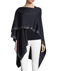 St. John - Leather-trim Milano Wrap - Lyst
