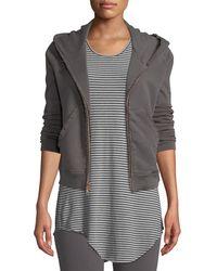 Frank & Eileen - Distressed Fleece Zip Hoodie Sweatshirt Jacket - Lyst