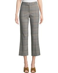 Trina Turk - Highland Park Button-back Pants In Plaid - Lyst