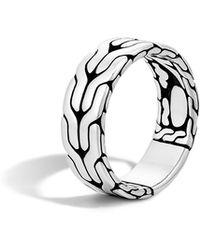 John Hardy - Men's Silver Woven Chain Ring - Lyst