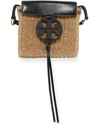 Tory Burch - Miller Straw Cross-body - Lyst