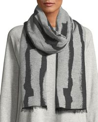 Eileen Fisher - Recycled Cotton-blend Jacquard Streaks Scarf - Lyst