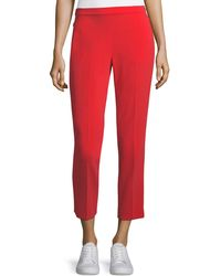 Theory - Admiral Crepe Straight-leg Basic Pull-on Pants - Lyst