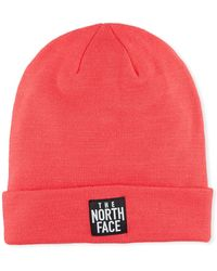 The North Face Men's Dock Worker Fold-over Beanie Pink