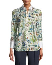 Tory Burch - Brigette Meadow-floral Blouse - Lyst