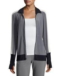 Norma Kamali - Side-stripe Turtle Athletic Jacket - Lyst