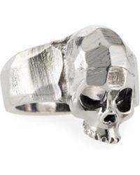 Emanuele Bicocchi - Men's Hammered Skull Ring - Lyst