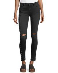 Etienne Marcel - Kika Mid-rise Skinny Ankle Jeans W/ Grommets - Lyst