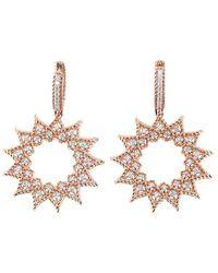 Roberto Coin - Roman Barocco 18k Rose Gold Diamond Drop Earrings - Lyst