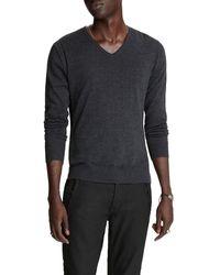 John Varvatos - Men's Arlington Melange V-neck Sweater - Lyst