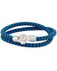 Brace Humanity - Men's Double Tour Braided Wrap Bracelet Cobalt - Lyst