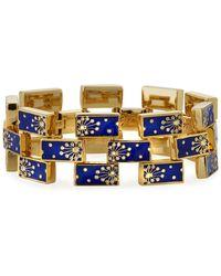 Lulu Frost Lunette Enamel-link Bracelet - Blue