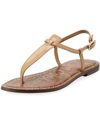 3b4b6de14b1216 Sam Edelman - Gigi Patent Leather Flat Thong Sandal - Lyst