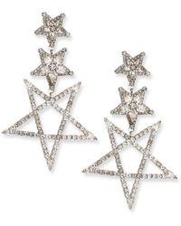 Elizabeth Cole Tate Crystal Star Earrings - Metallic