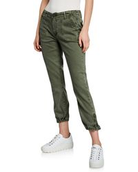 PAIGE Mayslie Cropped Jogger Pants - Green