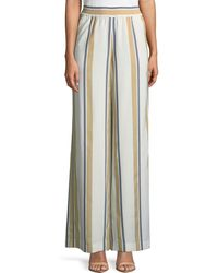 Lafayette 148 New York - Hester Vienna Striped Wide-leg Pants - Lyst