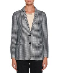 Giorgio Armani | Diagonal-stripe Jersey Jacquard Two-button Jacket | Lyst