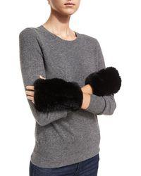 Neiman Marcus - Luxury Rabbit Fur Cuffs - Lyst