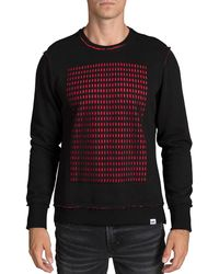 PRPS - Men's Perforated-panel Crewneck Sweater - Lyst