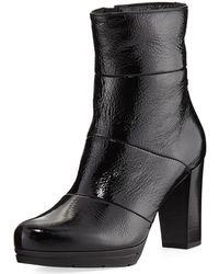 La Canadienne - Mirabella Patent Leather Bootie - Lyst