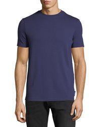 Emporio Armani - Men's Crewneck Short-sleeve Chevron-print T-shirt - Lyst