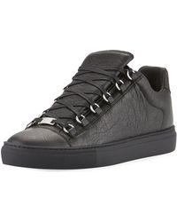 4371f3033ca18 Balenciaga Men s Arena Leather Mid-top Sneaker in White for Men - Lyst