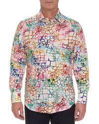 Robert Graham Zimbali Linen Sport Shirt - Multicolour