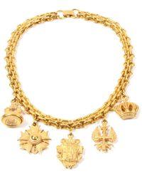 Ben-Amun Multi-charm Necklace - Metallic