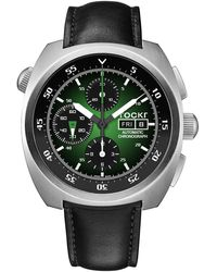 Tockr Men's 45mm Air Defender Chronograph Watch Green/black - Multicolor