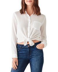 DL1961 Mercer & Spring Crinkle Button-down Top - White