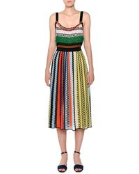 Missoni - Thin-strap Elastic-waist Multicolor Knit Midi Dress - Lyst