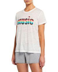 1cb315f14fe67 Pj Salvage - Rainbow Stripe Music Short-sleeve Slub Tee - Lyst