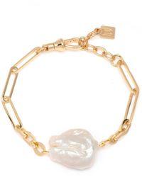 DANNIJO Helena 1-pearl Chain Bracelet - Metallic