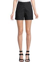 Proenza Schouler - High-waist Button-fly Cotton Shorts - Lyst