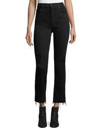 10 Crosby Derek Lam - Leah High-waist Straight-leg Jeans W/ Raw Hem - Lyst